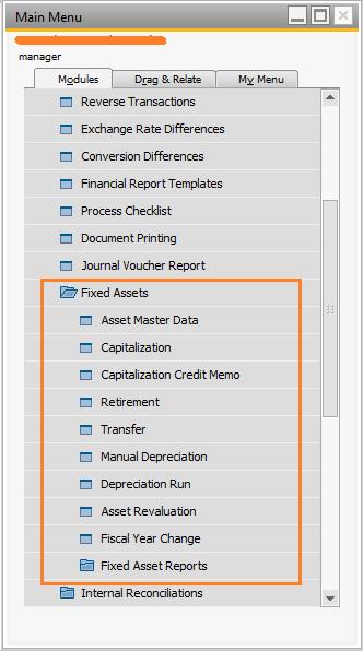 Modul Fixed Assets